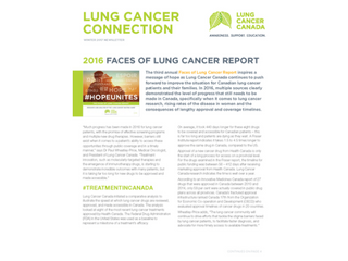 Lung Cancer Connection - Winter 2017