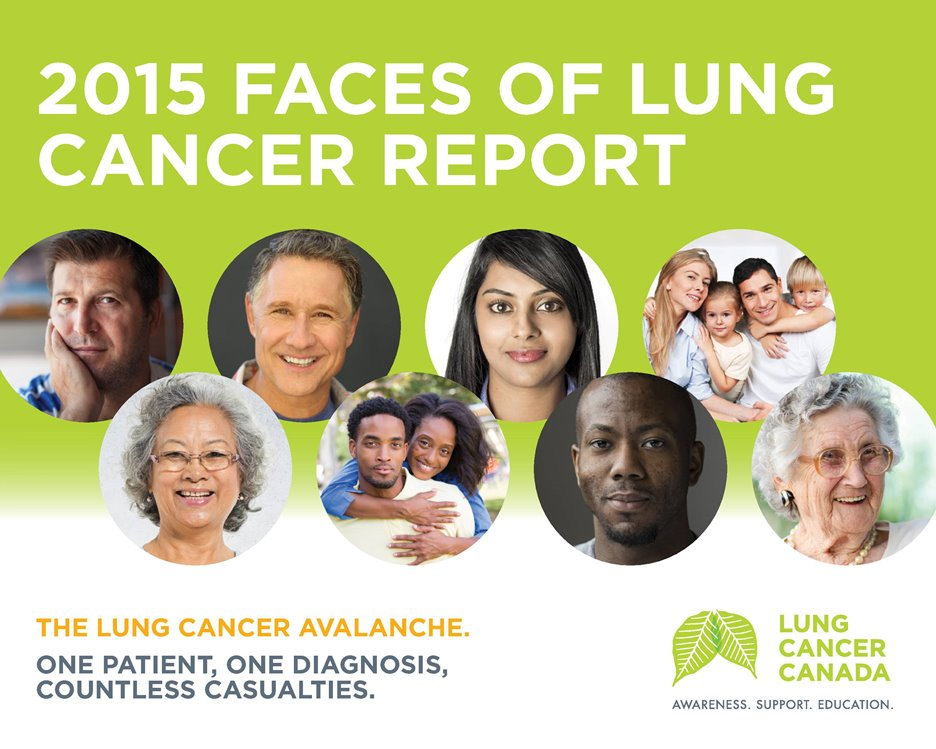 2015 Faces of Lung Cancer Report Cover