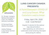 A Panel Discussion: COVID-19 and Lung Cancer.  What Canadians Need to Know.